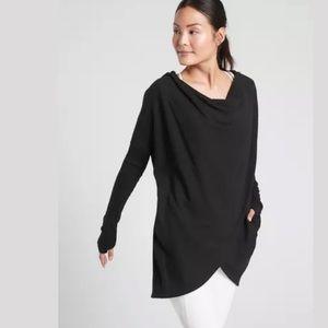 ATHLETA Purana Wrap Sweatshirt Black NWT
